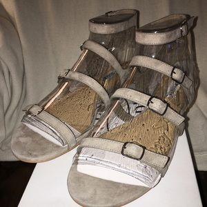 Gladiator Suede Flat Sandal
